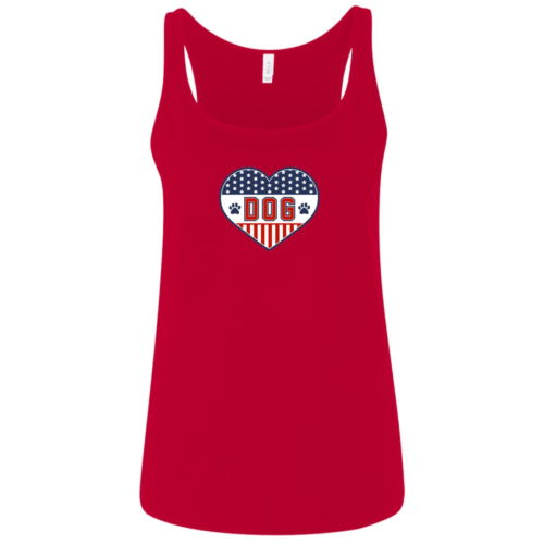 U.S.A. D.O.G. Relaxed Fit Red Tank