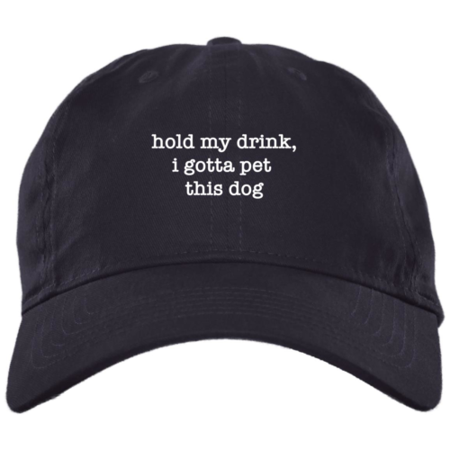 Hold My Drink Navy Dog Mom Hat