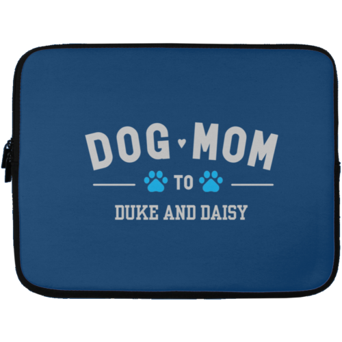 "Dog Mom To My Fur Babies Personalized 13"" Laptop Sleeve"