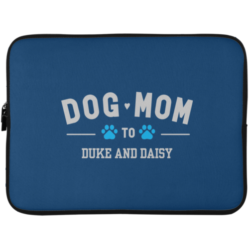 "Dog Mom To My Fur Babies Personalized 15"" Laptop Sleeve"