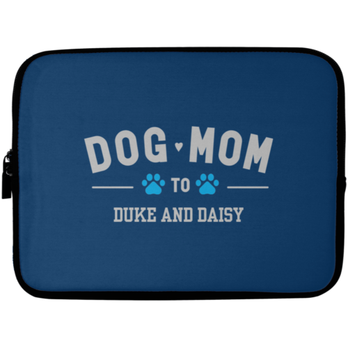 "Dog Mom To My Fur Babies Personalized 10"" Laptop Sleeve"