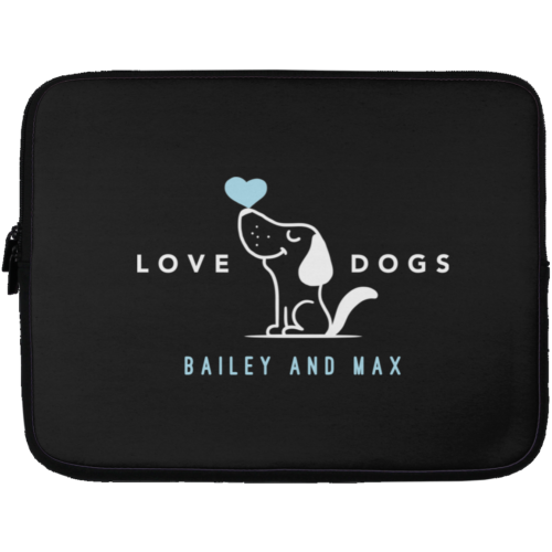 "Love Dogs Personalized 13"" Laptop Sleeve"