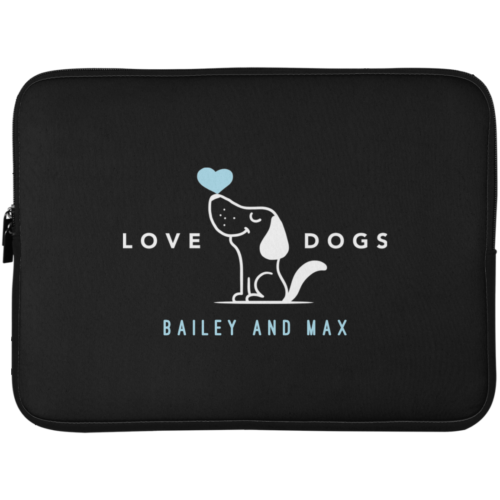 "Love Dogs Personalized 15"" Laptop Sleeve"