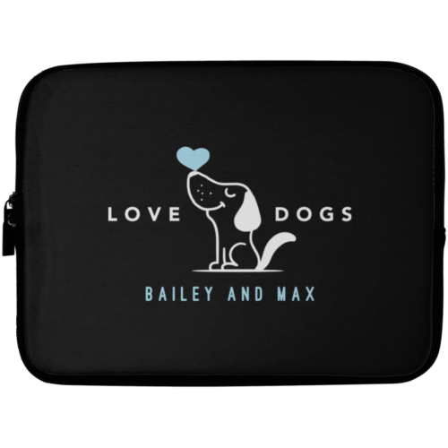 "Love Dogs Personalized 10"" Laptop Sleeve"