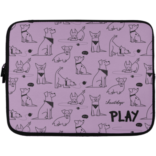 "Dogs At Play 13"" Laptop Sleeve"