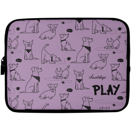 "Dogs At Play 10"" Laptop Sleeve"