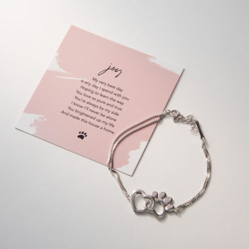 Limited Edition My Dog Brings Me Joy Sterling Silver Bracelet