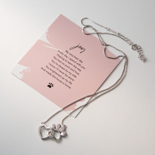 Limited Edition My Dog Brings Me Joy Sterling Silver Necklace