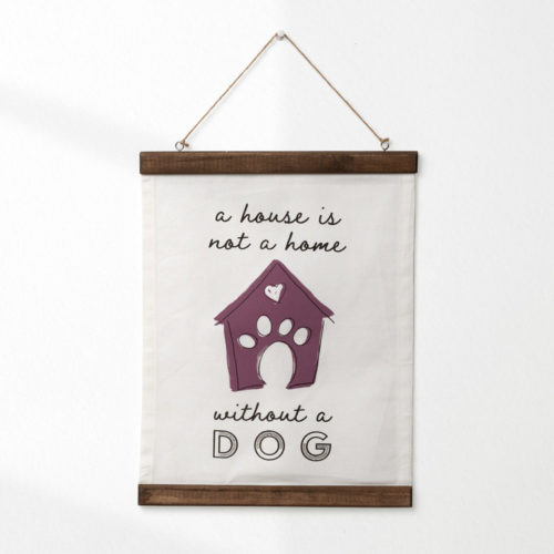 A House Is Not A Home Canvas Scroll Wall Decor