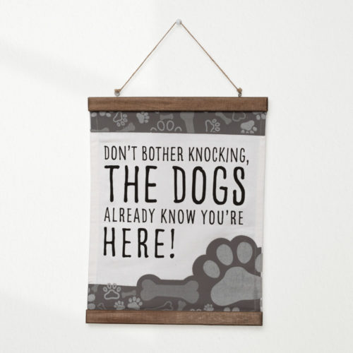 Don't Bother Knocking Home Canvas Scroll Wall Decor