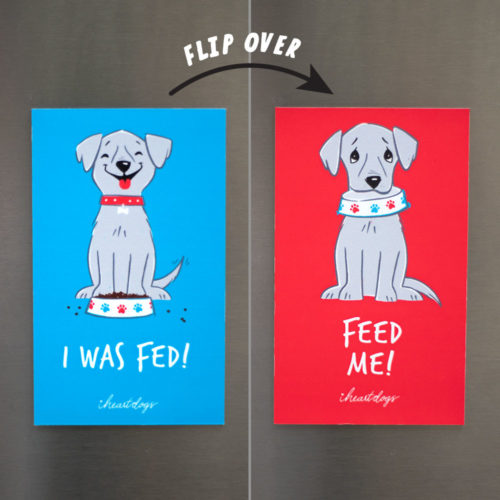Has The Dog Been Fed Reversible Fridge Magnet