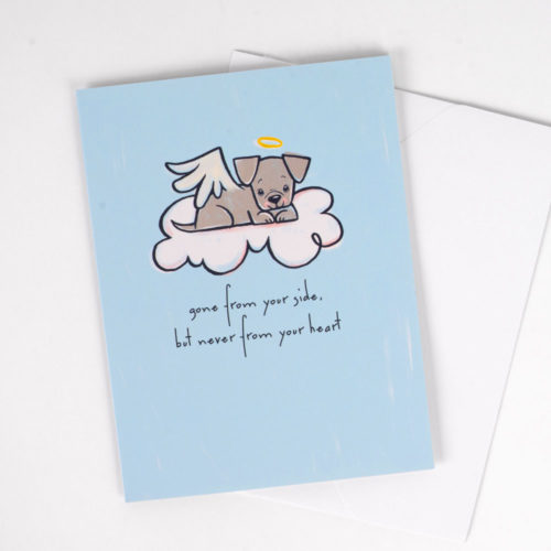 Gone From Your Side But Never From Your Heart Greeting Card