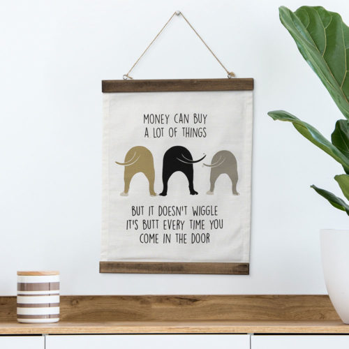 Wiggle Butts Home Canvas Scroll Wall Decor