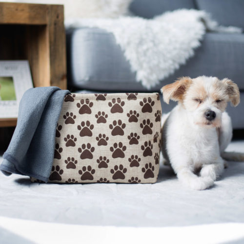 Paw Prints Decorative Storage Bin