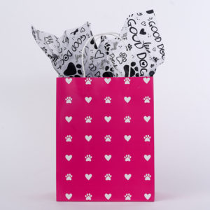 Promo: Pretty In Pink Love Paws Gift Bag With Tissue Paper