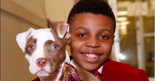 Darius and a dog