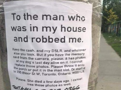Heartbreaking note