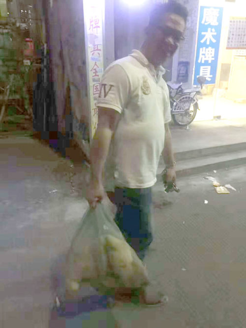 Man rescues dog from meat trade