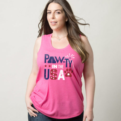 Pawty In The USA Fuchsia Frost Perfect Tank