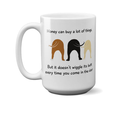 Wiggle Butt 15 oz. White Mug