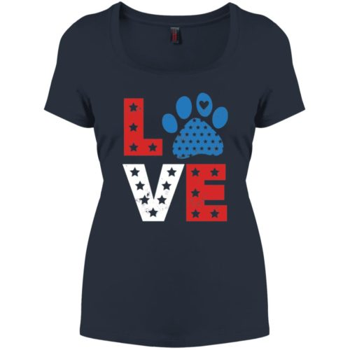 Love Paw USA Relaxed Fit Navy Tee