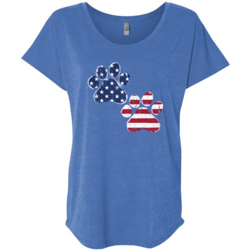Paw Flags USA Slouchy Vintage Royal Tee