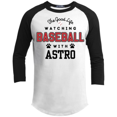 The Good Life Baseball Personalized 3/4 Sleeve White Baseball Shirt