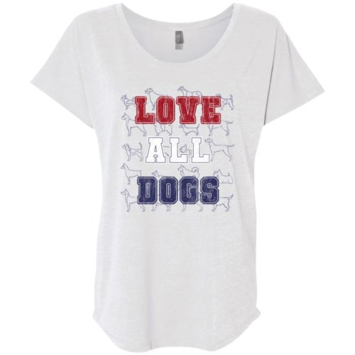 Love All Dogs Slouchy Heather White Tee