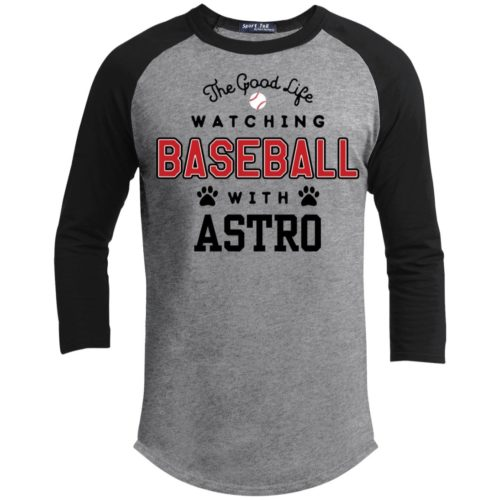 The Good Life Baseball Personalized 3/4 Sleeve Heather Grey Baseball Shirt