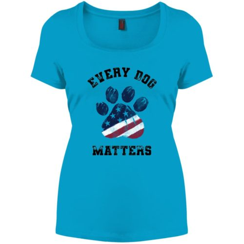 Every Dog Matters Star Spangled Paw Relaxed Fit Turquoise Tee