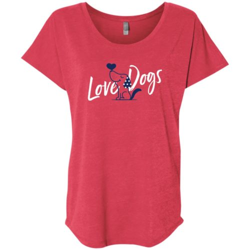 Love Dogs USA Slouchy Red Tee