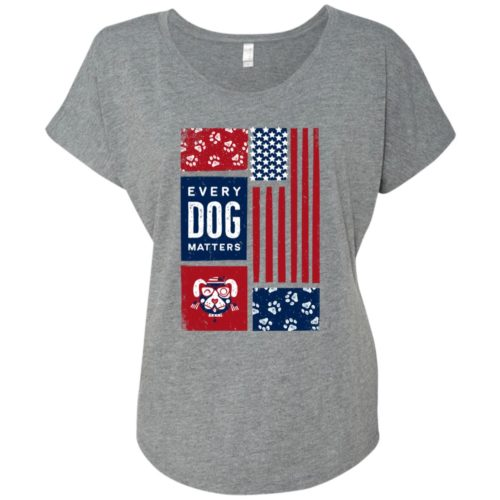 Every Dog Matters 4th Of July Slouchy Heather Grey Tee