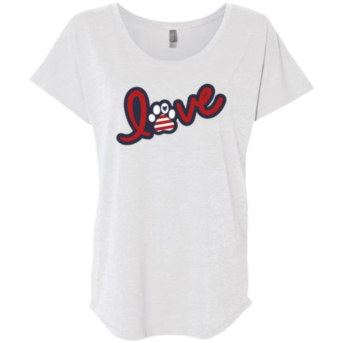 Love Love USA Slouchy Heather White Tee