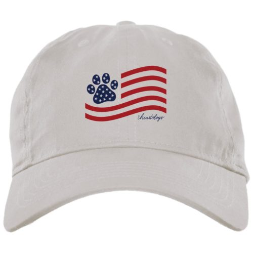 Perfect Paw Flag White Dog Mom Hat