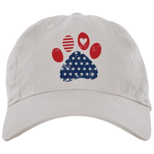 Star Spangled Paw White Dog Mom Hat