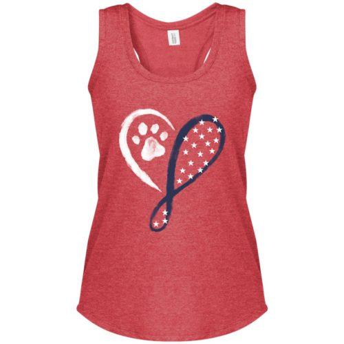 Elegant Heart Stars & Stripes Red Frost Perfect Tank