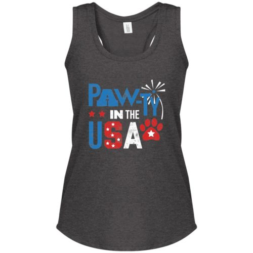 Pawty In The USA Heather Charcoal Perfect Tank
