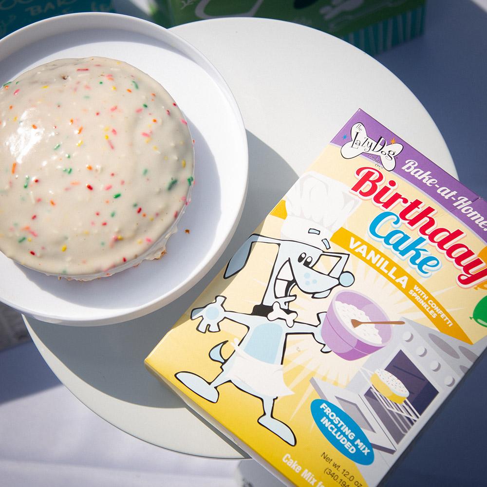 Pleasant Lazy Dog Vanilla Birthday Cake Mix With Frosting Sprinkles 12 Oz Personalised Birthday Cards Veneteletsinfo