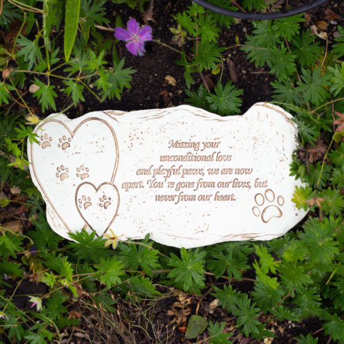 Missing Your Unconditional Love Memorial Garden Stone