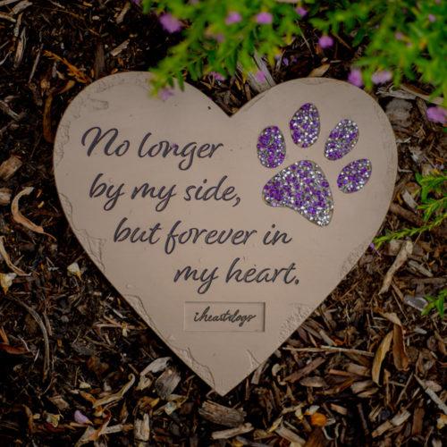 No Longer By My Side Memorial Garden Stone