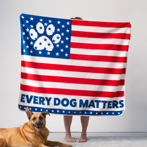 "Give Warmth™ Buy One Give One Fleece Blanket: Every Dog Matters 60"" x 50"""