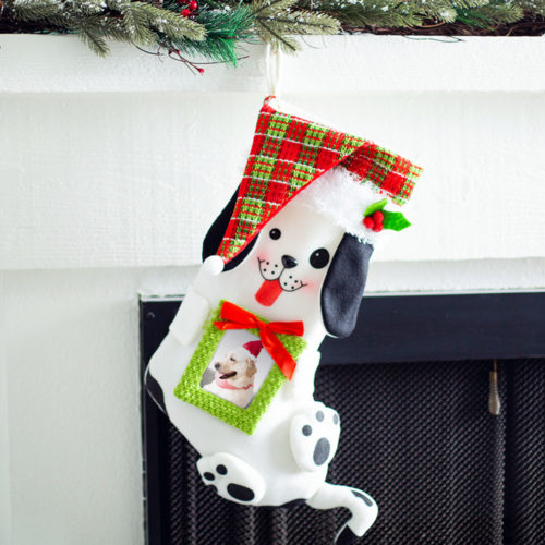 Pawdorable Pup Picture Frame Christmas Stocking