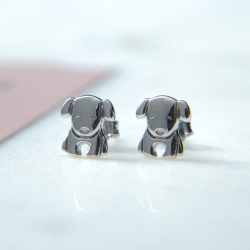 The Miracle of Love Limited Edition I Really Love This Dog Sterling Silver Earrings