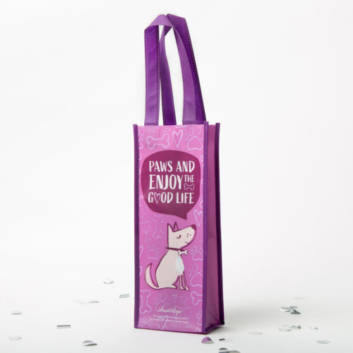 Paws & Enjoy The Good Life Reusable Wine Bag