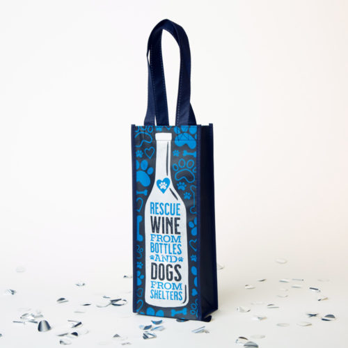 Rescue Wine From Bottles & Dogs From Shelters Reusable Wine Bag