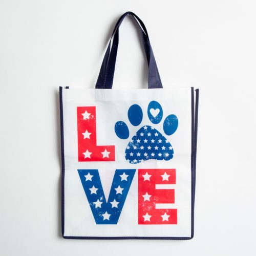 Star Spangled Love Paw Grocery Bag