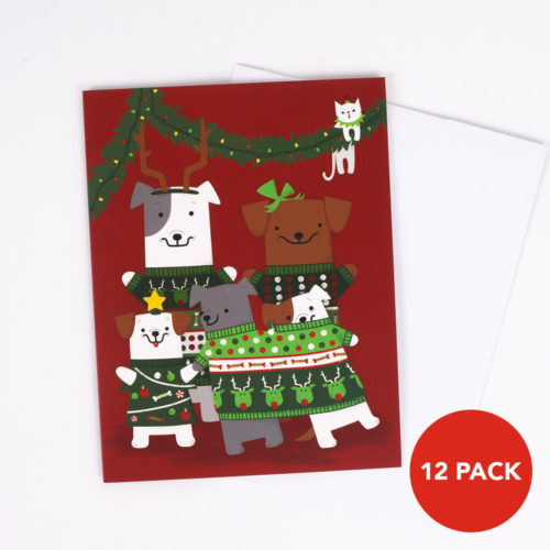Promo: 12 Pack We Love the Pawlidays Give Back Greeting Cards