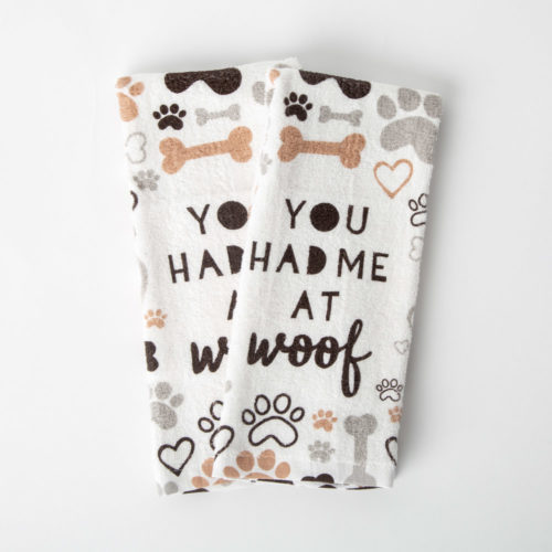 You Had Me At Woof Kitchen Towels (Set of 2)