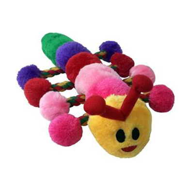 Light Bright Caterpillar Plush Rope Toy