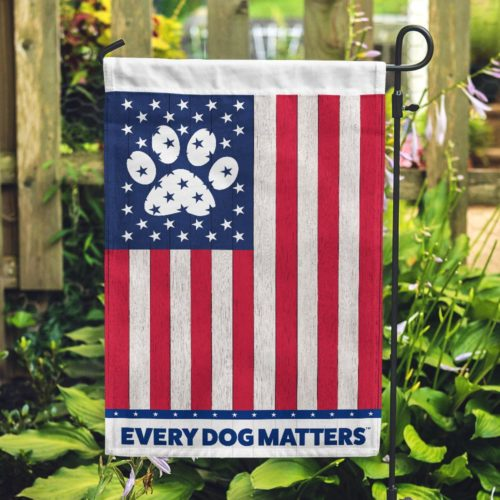 Every Dog Matters USA Flag Garden Flag